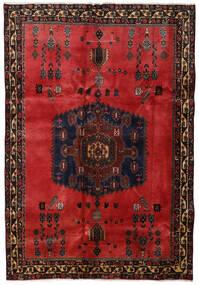 Afshar Matta 176X254 Äkta Orientalisk Handknuten Mörkbrun/Mörkröd/Roströd (Ull, Persien/Iran)