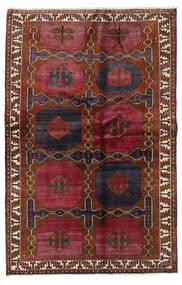 Lori Matta 136X210 Äkta Orientalisk Handknuten Mörkröd/Svart (Ull, Persien/Iran)