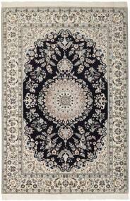 Nain 6La Matta 155X230 Äkta Orientalisk Handknuten Ljusgrå/Mörkblå (Ull/Silke, Persien/Iran)