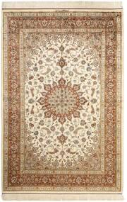 Ghom Silke Matta 130X197 Äkta Orientalisk Handknuten Beige/Brun (Silke, Persien/Iran)