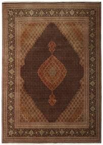 Tabriz 50 Raj Matta 250X348 Äkta Orientalisk Handvävd Brun/Mörkbrun Stor (Ull/Silke, Persien/Iran)