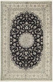 Nain 6La Matta 207X320 Äkta Orientalisk Handknuten Ljusgrå/Mörkgrå (Ull/Silke, Persien/Iran)
