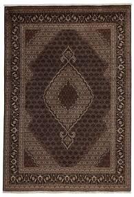 Tabriz 40 Raj Matta 200X288 Äkta Orientalisk Handknuten Mörkröd/Mörkbrun (Ull/Silke, Persien/Iran)