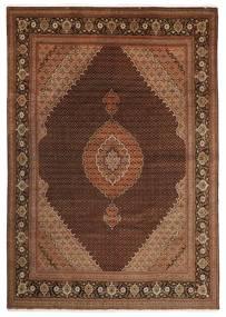 Tabriz 50 Raj Matta 251X347 Äkta Orientalisk Handknuten Mörkbrun/Brun Stor (Ull/Silke, Persien/Iran)