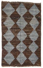 Moroccan Berber - Afghanistan Matta 83X131 Äkta Modern Handknuten Mörkbrun/Mörkgrå (Ull, Afghanistan)