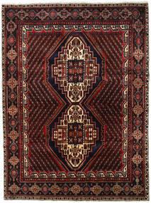 Afshar Shahre Babak Matta 175X233 Äkta Orientalisk Handknuten Mörkbrun/Mörkröd (Ull, Persien/Iran)