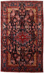 Nahavand Matta 150X256 Äkta Orientalisk Handknuten Mörkröd/Svart (Ull, Persien/Iran)