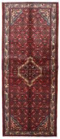Asadabad Matta 83X203 Äkta Orientalisk Handknuten Hallmatta Mörkröd (Ull, Persien/Iran)