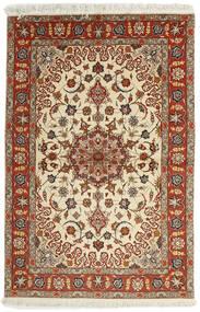 Tabriz 50 Raj Matta 102X153 Äkta Orientalisk Handvävd Mörkröd/Ljusbrun (Ull/Silke, Persien/Iran)