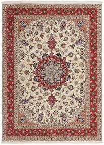 Tabriz 50 Raj Matta 151X210 Äkta Orientalisk Handvävd Ljusgrå/Mörkröd (Ull/Silke, Persien/Iran)