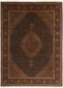 Tabriz 50 Raj Matta 244X344 Äkta Orientalisk Handknuten Mörkbrun/Brun (Ull/Silke, Persien/Iran)