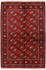 Turkaman Matta 136X200 Äkta Orientalisk Handknuten Mörkröd/Röd (Ull, Persien/Iran)