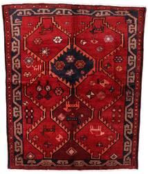 Lori Matta 158X195 Äkta Orientalisk Handknuten Mörkröd/Roströd (Ull, Persien/Iran)