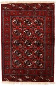 Turkaman Matta 110X160 Äkta Orientalisk Handknuten Mörkröd/Mörkbrun (Ull, Persien/Iran)