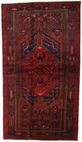 Hamadan Matta 132X228 Äkta Orientalisk Handknuten Mörkröd (Ull, Persien/Iran)