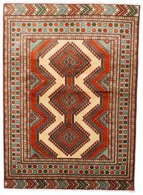Turkaman Matta 125X172 Äkta Orientalisk Handknuten Mörkröd/Mörkbrun (Ull, Persien/Iran)