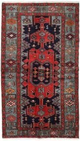 Hamadan Matta 132X227 Äkta Orientalisk Handknuten Mörkblå/Mörkröd (Ull, Persien/Iran)