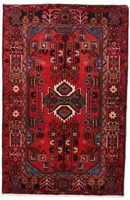 Nahavand Matta 103X161 Äkta Orientalisk Handknuten Mörkröd/Mörkbrun (Ull, Persien/Iran)