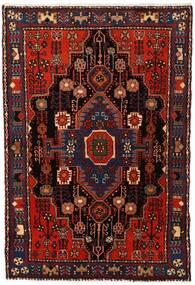 Nahavand Matta 103X153 Äkta Orientalisk Handknuten Mörkröd (Ull, Persien/Iran)
