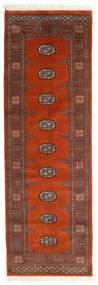 Pakistan Bokhara 2Ply Matta 77X242 Äkta Orientalisk Handknuten Hallmatta Roströd/Mörkröd/Mörkbrun (Ull, Pakistan)