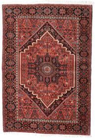 Gholtogh Matta 100X145 Äkta Orientalisk Handknuten Mörkröd/Beige (Ull, Persien/Iran)