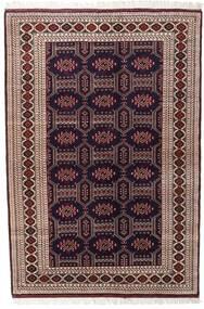Turkaman Matta 134X197 Äkta Orientalisk Handknuten Mörkröd/Mörkbrun (Ull, Persien/Iran)