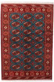 Turkaman Matta 132X195 Äkta Orientalisk Handknuten Mörkröd/Svart (Ull, Persien/Iran)