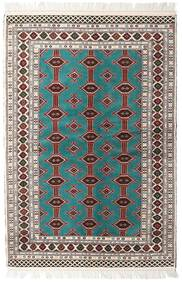 Turkaman Matta 135X198 Äkta Orientalisk Handknuten Beige/Ljusgrå (Ull, Persien/Iran)