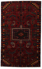 Lori Matta 157X258 Äkta Orientalisk Handknuten Mörkbrun/Mörkröd (Ull, Persien/Iran)