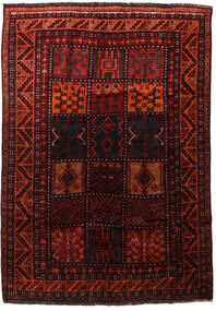 Lori Matta 179X258 Äkta Orientalisk Handknuten Mörkröd (Ull, Persien/Iran)