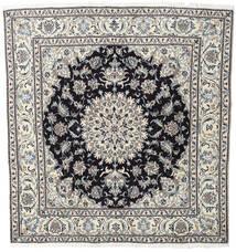Nain Matta 196X206 Äkta Orientalisk Handknuten Kvadratisk Ljusgrå/Mörkgrå (Ull, Persien/Iran)