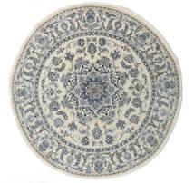 Nain Matta Ø 200 Äkta Orientalisk Handknuten Rund Mörkbeige/Mörkgrå/Ljusgrå (Ull, Persien/Iran)