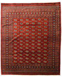 Pakistan Bokhara 3Ply Matta 253X305 Äkta Orientalisk Handknuten Mörkröd/Mörkbrun Stor (Ull, Pakistan)