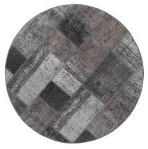 Patchwork - Persien/Iran Matta Ø 150 Äkta Modern Handknuten Rund Mörkbrun/Mörkgrå (Ull, Persien/Iran)