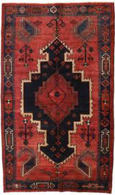 Lori Matta 147X248 Äkta Orientalisk Handknuten Mörkröd/Svart/Roströd (Ull, Persien/Iran)