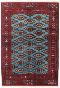 Turkaman Matta 133X190 Äkta Orientalisk Handknuten Mörkröd/Blå (Ull, Persien/Iran)