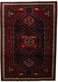 Lori Matta 219X307 Äkta Orientalisk Handknuten Mörkröd (Ull, Persien/Iran)