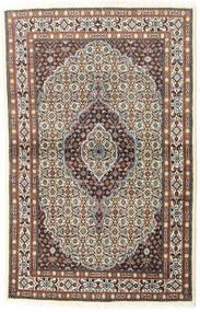 Moud Matta 97X150 Äkta Orientalisk Handknuten Ljusgrå/Mörkröd (Ull/Silke, Persien/Iran)