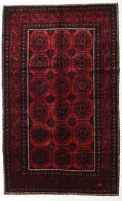 Lori Matta 155X250 Äkta Orientalisk Handknuten Mörkbrun/Mörkröd (Ull, Persien/Iran)