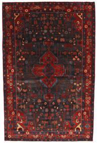 Nahavand Matta 156X245 Äkta Orientalisk Handknuten Mörkröd/Svart (Ull, Persien/Iran)