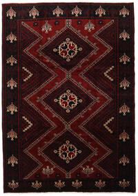 Lori Matta 217X307 Äkta Orientalisk Handknuten Mörkröd (Ull, Persien/Iran)