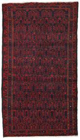 Hamadan Matta 106X190 Äkta Orientalisk Handknuten Mörkröd/Mörkbrun (Ull, Persien/Iran)