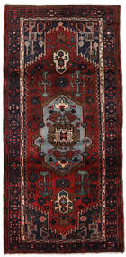 Hamadan Matta 102X217 Äkta Orientalisk Handknuten Mörkröd (Ull, Persien/Iran)