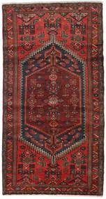 Hamadan Matta 100X188 Äkta Orientalisk Handknuten Mörkröd/Mörkbrun (Ull, Persien/Iran)