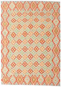 Kelim Afghan Old Style Matta 208X293 Äkta Orientalisk Handvävd Beige/Orange/Mörkbeige (Ull, Afghanistan)