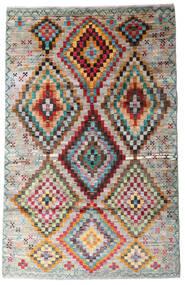Moroccan Berber - Afghanistan Matta 116X182 Äkta Modern Handknuten Ljusgrå/Ljusbrun (Ull, Afghanistan)