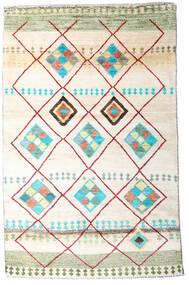 Moroccan Berber - Afghanistan Matta 118X184 Äkta Modern Handknuten Vit/Cremefärgad/Beige (Ull, Afghanistan)