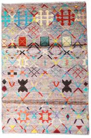 Moroccan Berber - Afghanistan Matta 119X177 Äkta Modern Handknuten Beige/Mörkgrå (Ull, Afghanistan)