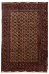 Afghan Matta 201X294 Äkta Orientalisk Handknuten Mörkröd/Brun (Ull, Afghanistan)