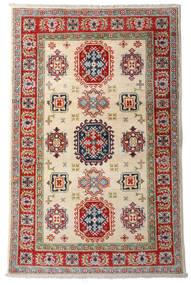 Kazak Matta 92X144 Äkta Orientalisk Handknuten Mörkröd/Beige (Ull, Afghanistan)